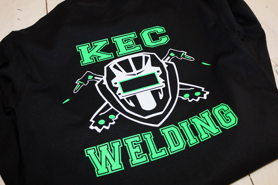screen printed KEC Welding shirt